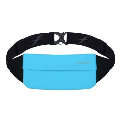 zipless running and travel belt turquoise