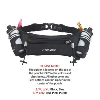 hydration belt with water bottles for running in black