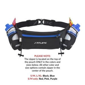 hydration belt with water bottle for running blue