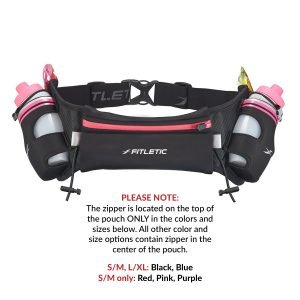 Hydration belt with water bottle for running pink