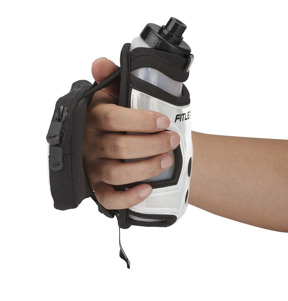 hydra palm bottle hand holder reflective gray with phone