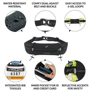 ultimate i running belt with gels infographic