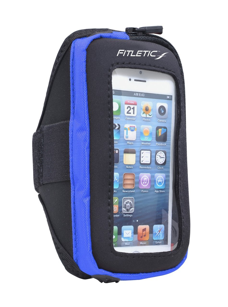 pace arm band with phone blue