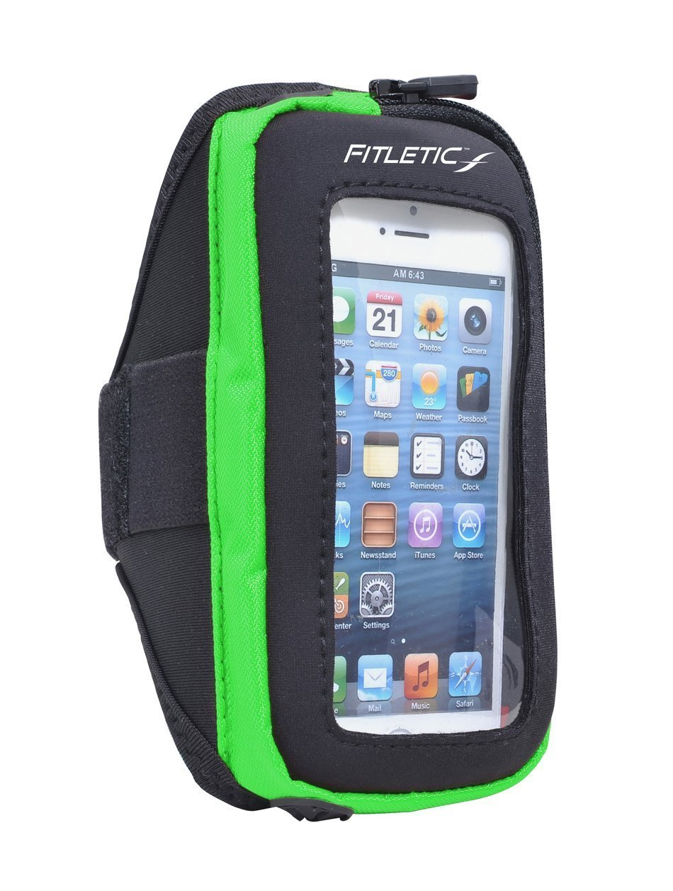 pace arm band with phone green