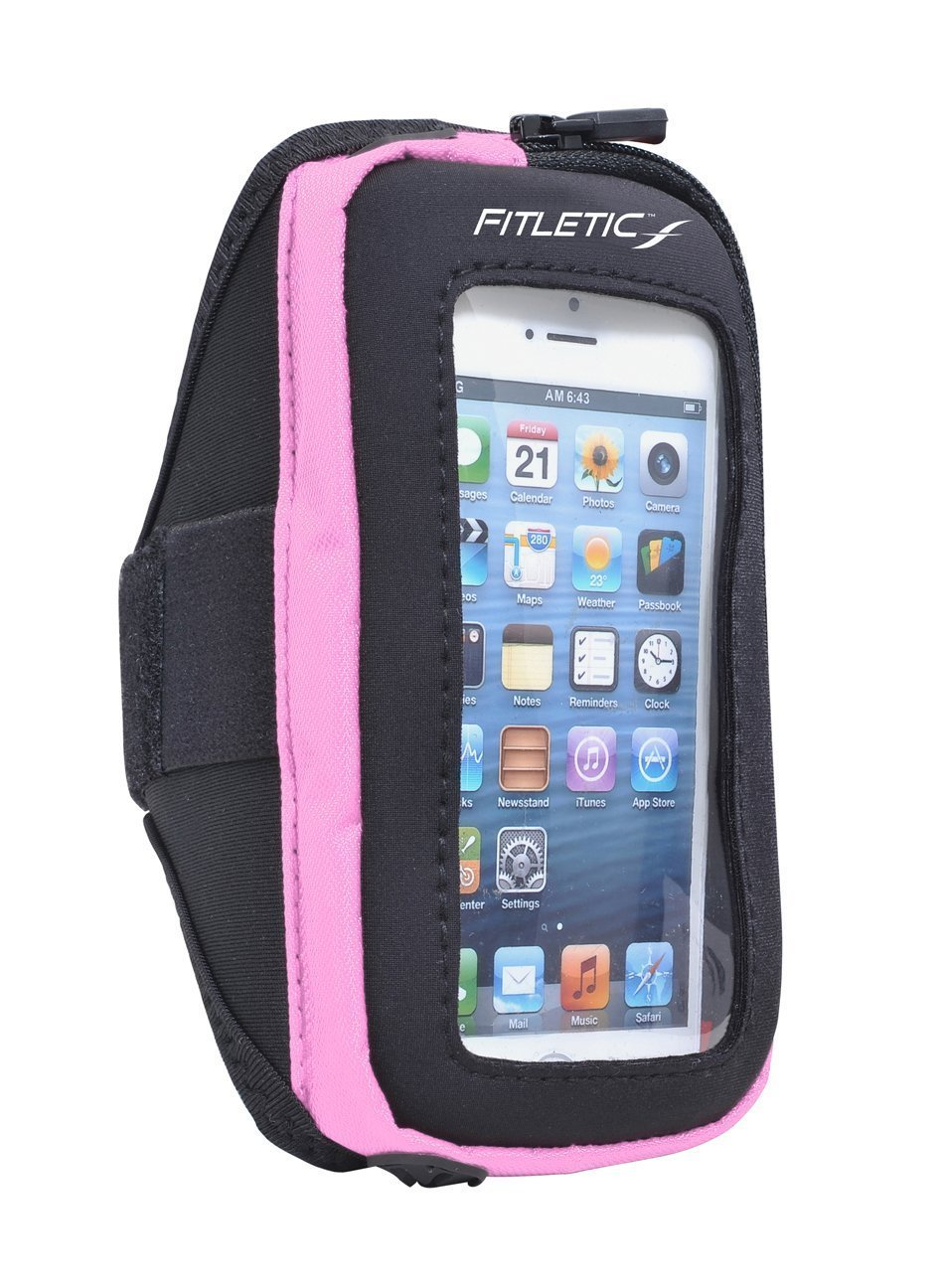 pace arm band with phone pink