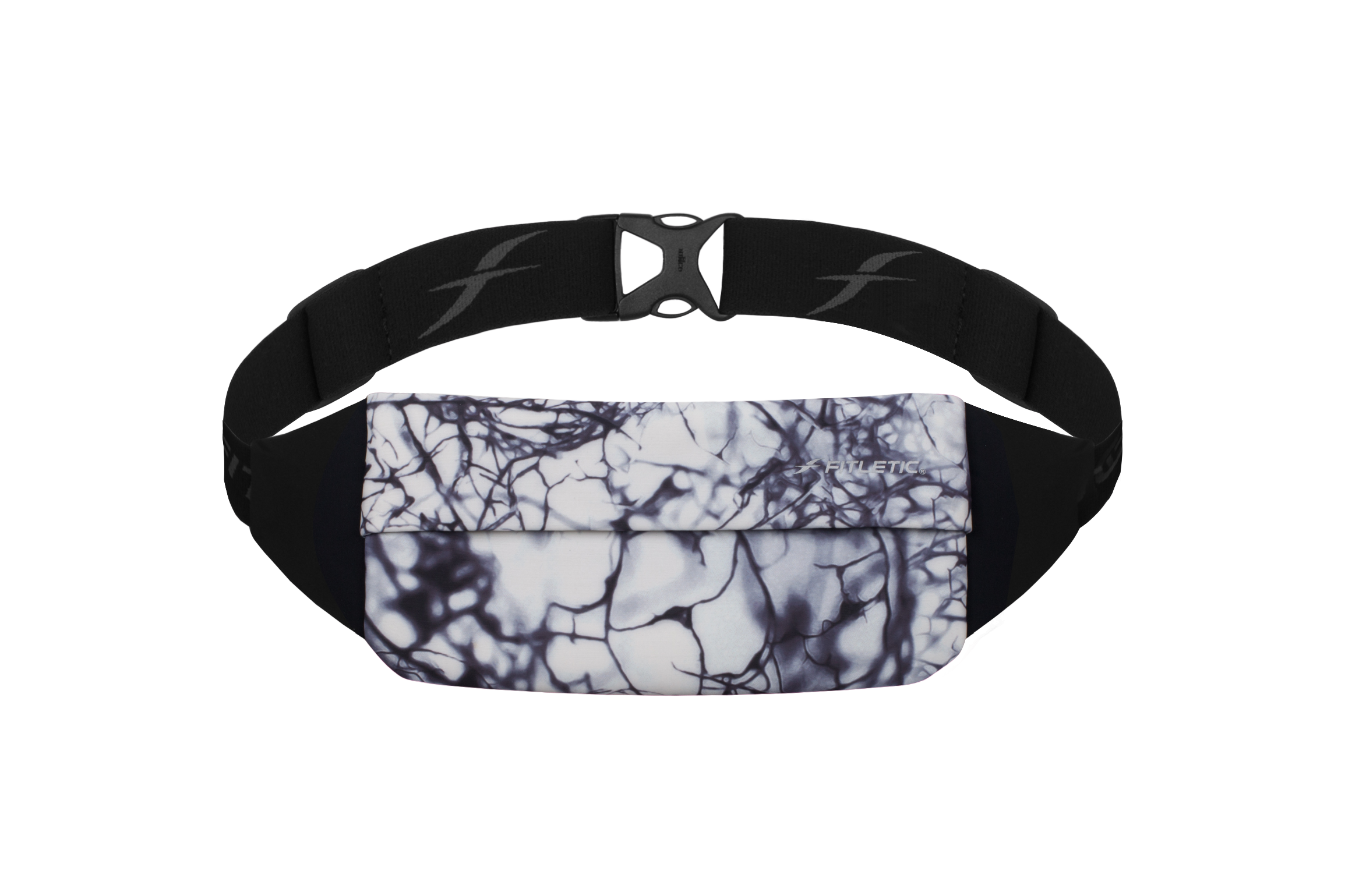 zipless running and travel belt marble