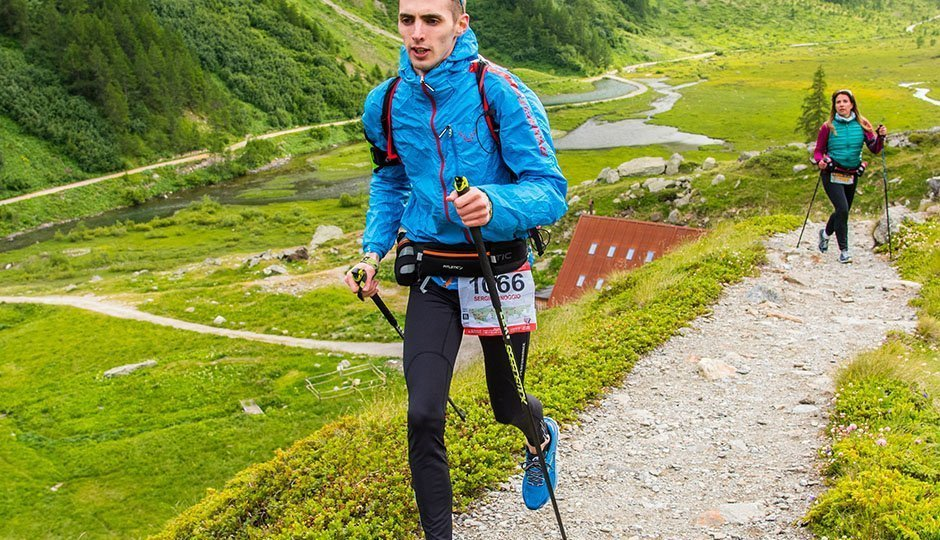 trail running with the hydra belt