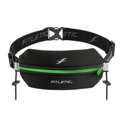 running belt with toggles green