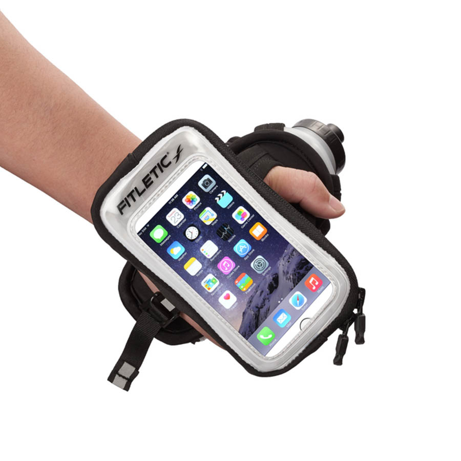 hydra palm bottle hand holder gray with phone