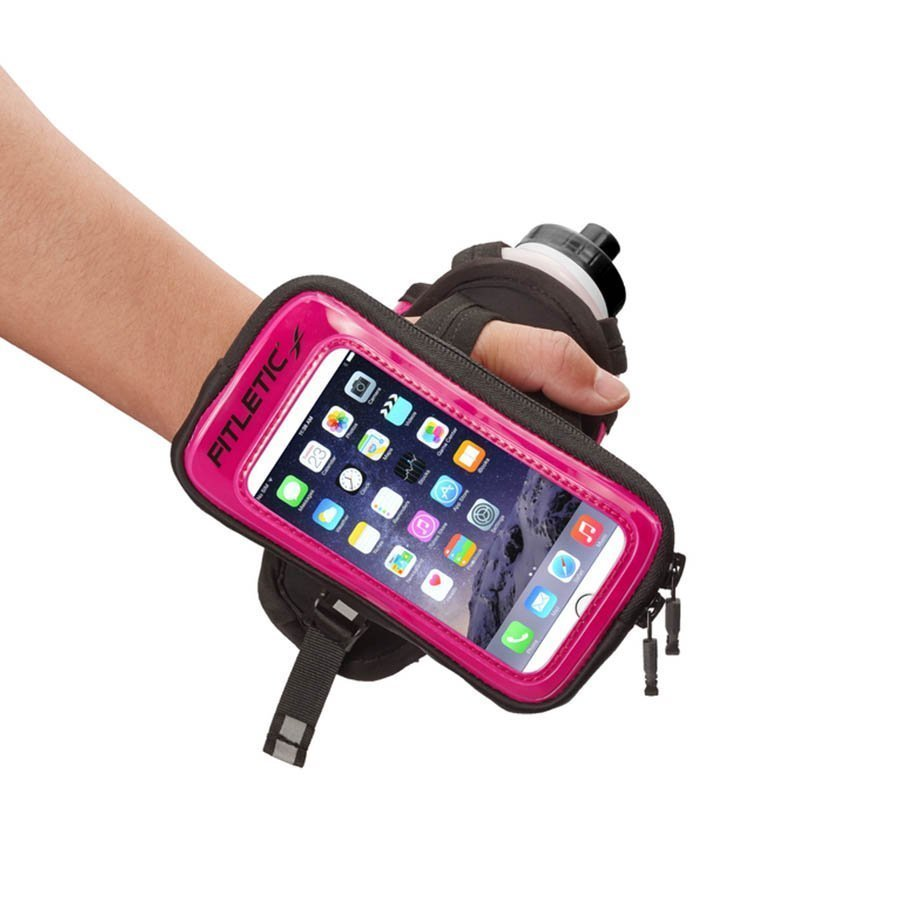 hydra palm bottle hand holder pink with phone