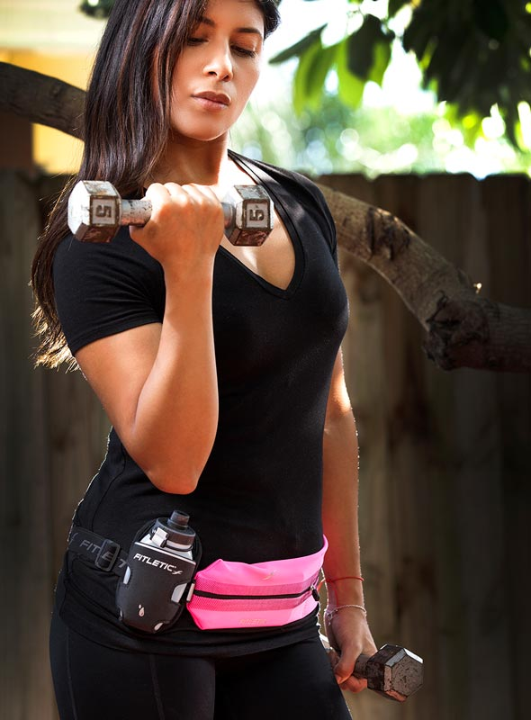 working out with fitletic hydra belt