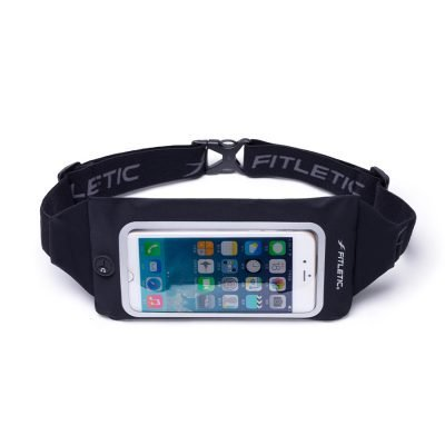 running belt with window for phone