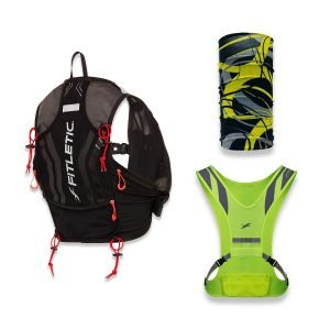hydration trail running pack reflective vest multi scarf