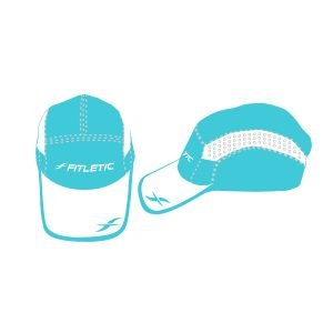 fitletic turquoise hat sport hat running hat