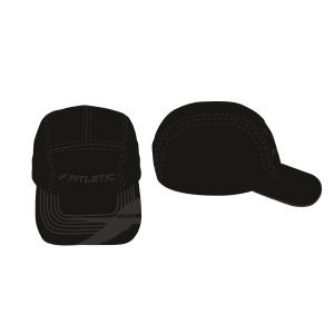 fitletic all black hat sport hat running hat