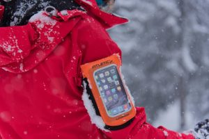person wearing fitletic armband winter running must haves